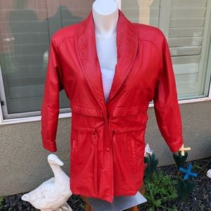 Wilson Leather Red Jacket Size small